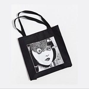 ♥︎ Junji Ito Uzumaki Spiral Tote Bag ♥︎